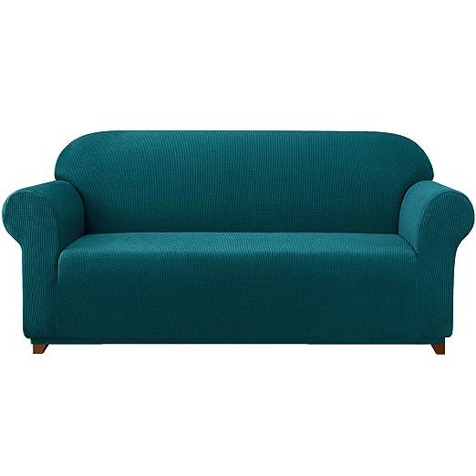 Subrtex - Fundas de tejido elástico para sofá, 1 pieza, tela, azul, Sofa