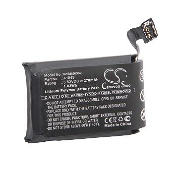 vhbw Litio polímero batería 270mAh (3.82V) para smartwatch ...