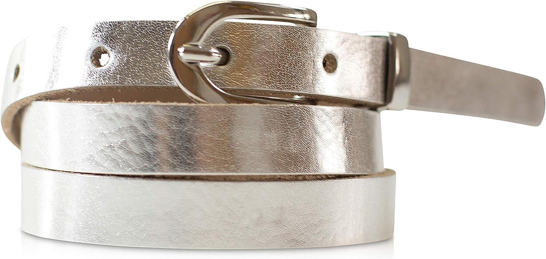 schmaler G/ürtel fashionchimp /® Basic Dameng/ürtel aus 100/% echtem Leder 1,5cm Made In Germany Breite ca