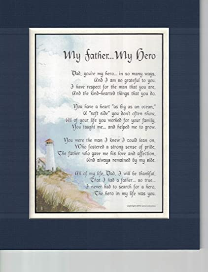 Amazon My Father Hero A Touching Sentimental Poem Present