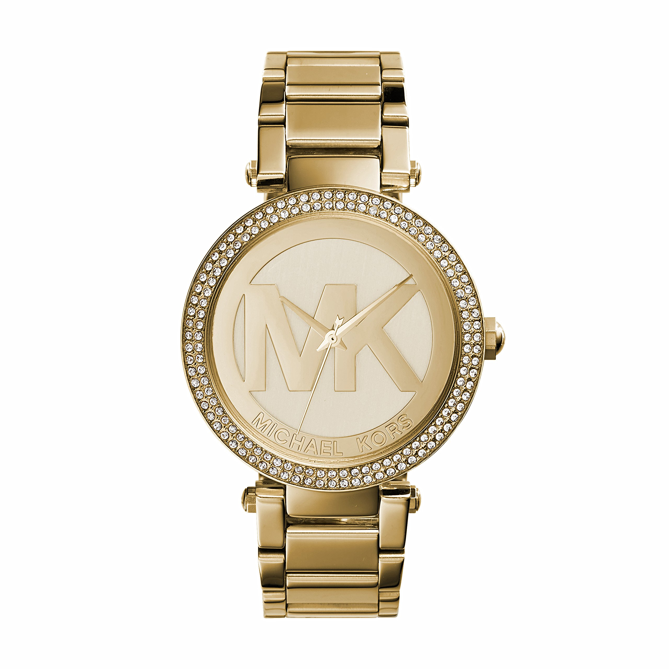 5c079e14168b Michael Kors MK5784 Ladies All Gold Logo Parker Watch