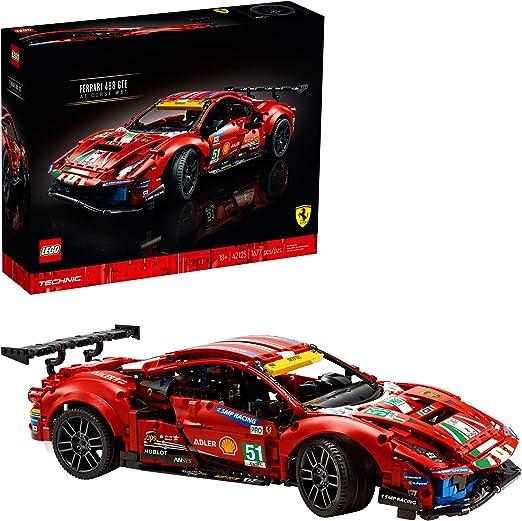 Lego Technic 42125 Ferrari 488 Gte Af Corse 51 1677 Teile Neu 2021 Amazon De Spielzeug