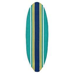 Liora Manne Folly Surfer Stripes Rug, Indoor/Outdoor, Teal