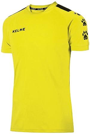 KELME Lince Camiseta Fútbol, Hombre, Amarillo/Negro, XXL