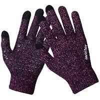 Knit Gloves,Anqier Windproof Touchscreen Warm Hand Gloves for Men & Women