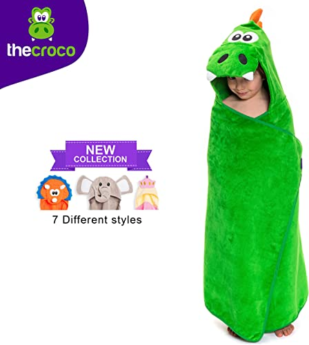 TheCroco Premium Hooded Towel: Ultra Soft, 100% Cotton, Super Absorbent & Thick Exceptionally Large