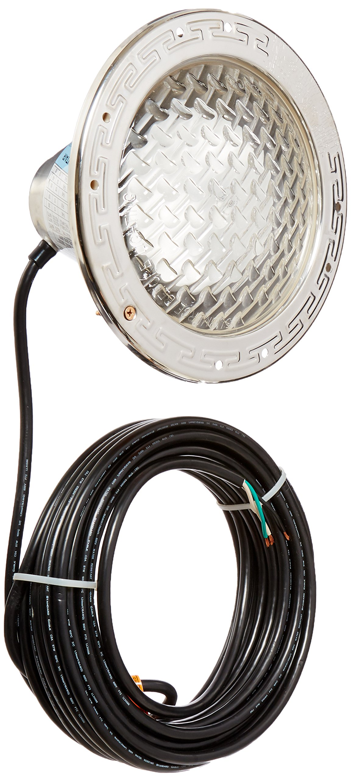 Pentair 78458100 Amerlite Underwater Incandescent Pool Light with Stainless Steel Face Ring, 120 Volt, 50 Foot Cord, 500 Watt by Pentair