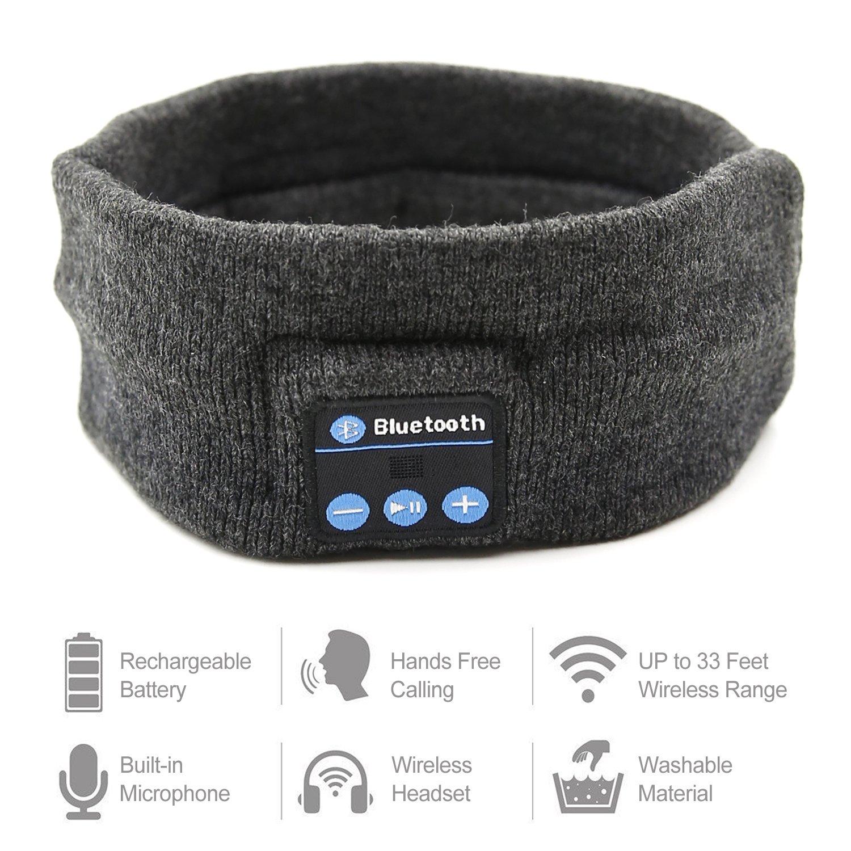 Bluetooth Headphones Headband, Amytech Yoga Diademas Diadema inalámbrica Deportes auriculares auriculares auriculares con cancelación de ruido para dormir ...