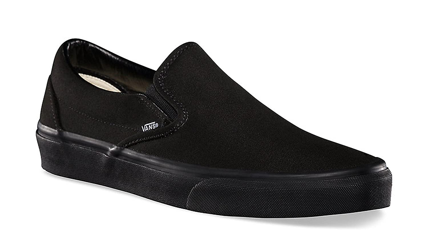 Vans Unisex Classic Slip-On Black/Black VN000EYEBKA B007JWW77G mens 9.5 / womens 11|black/black