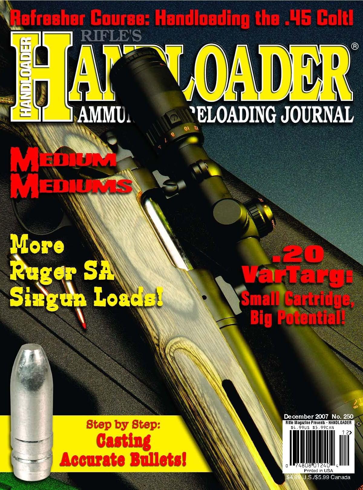 Handloader Magazine - December 2007 - Issue Number 250 ebook