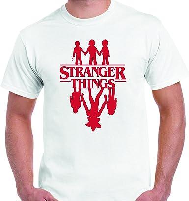 DrMugCollection Camiseta Stranger Things ¿Amigos?: Amazon.es: Ropa y accesorios