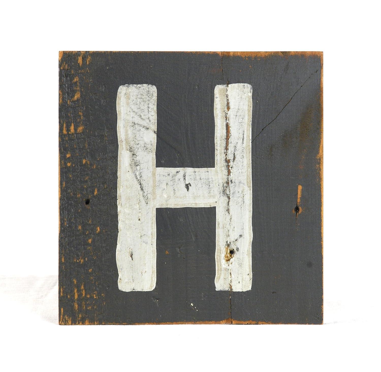 zentique Buchstabe aus Holz - klein - Monogramm H