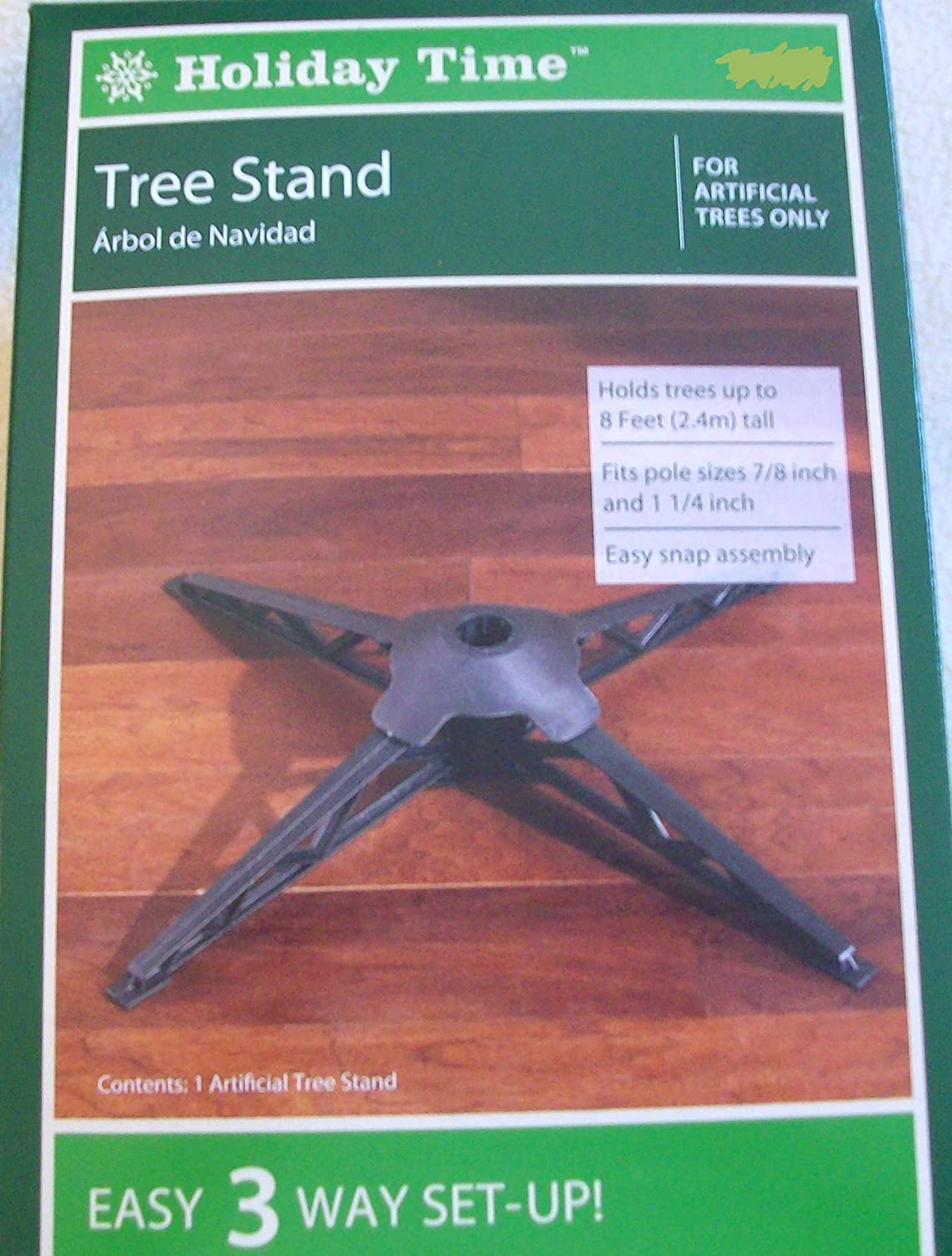 amazoncom holiday time artificial tree replacement stand home kitchen - Artificial Christmas Tree Stand