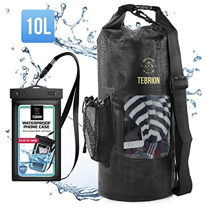 ab2ff07cc4 TEBRION 10L   10L+15L Waterproof Dry Bag with Waterproof Phone Case Set  Roll Top
