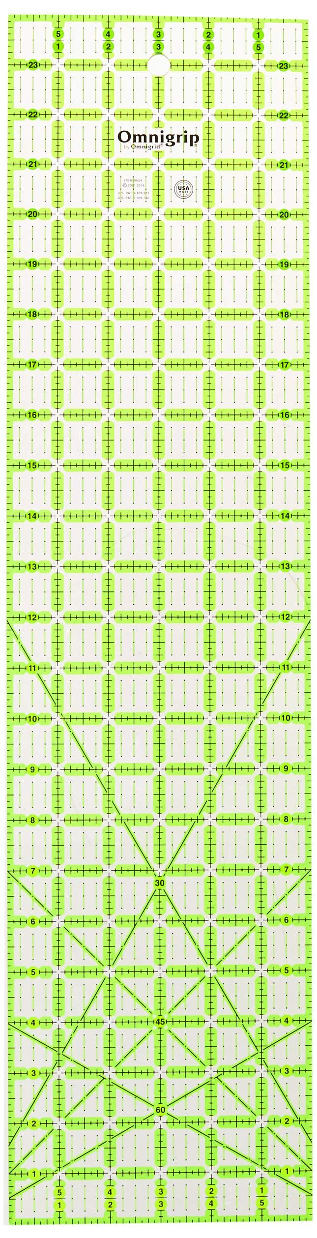 Omnigrid Non-Slip quilter's Ruler, 6'' x 24'', Original Version by Omnigrid