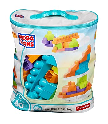 Mega Bloks 80-Piece Big Building Bag, Trendy