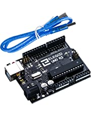 ELEGOO UNO R3 Board ATmega328P ATMEGA16U2 with USB Cable Compatible with Arduino IDE Projects RoHS Compliant