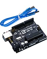 Elegoo EL-CB-001 UNO R3 Board ATmega328P ATMEGA16U2 with USB Cable for Arduino