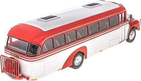 REO Speedwagon Bus Fertigmodell aus Die-Cast Metall in Vitrine 1:72