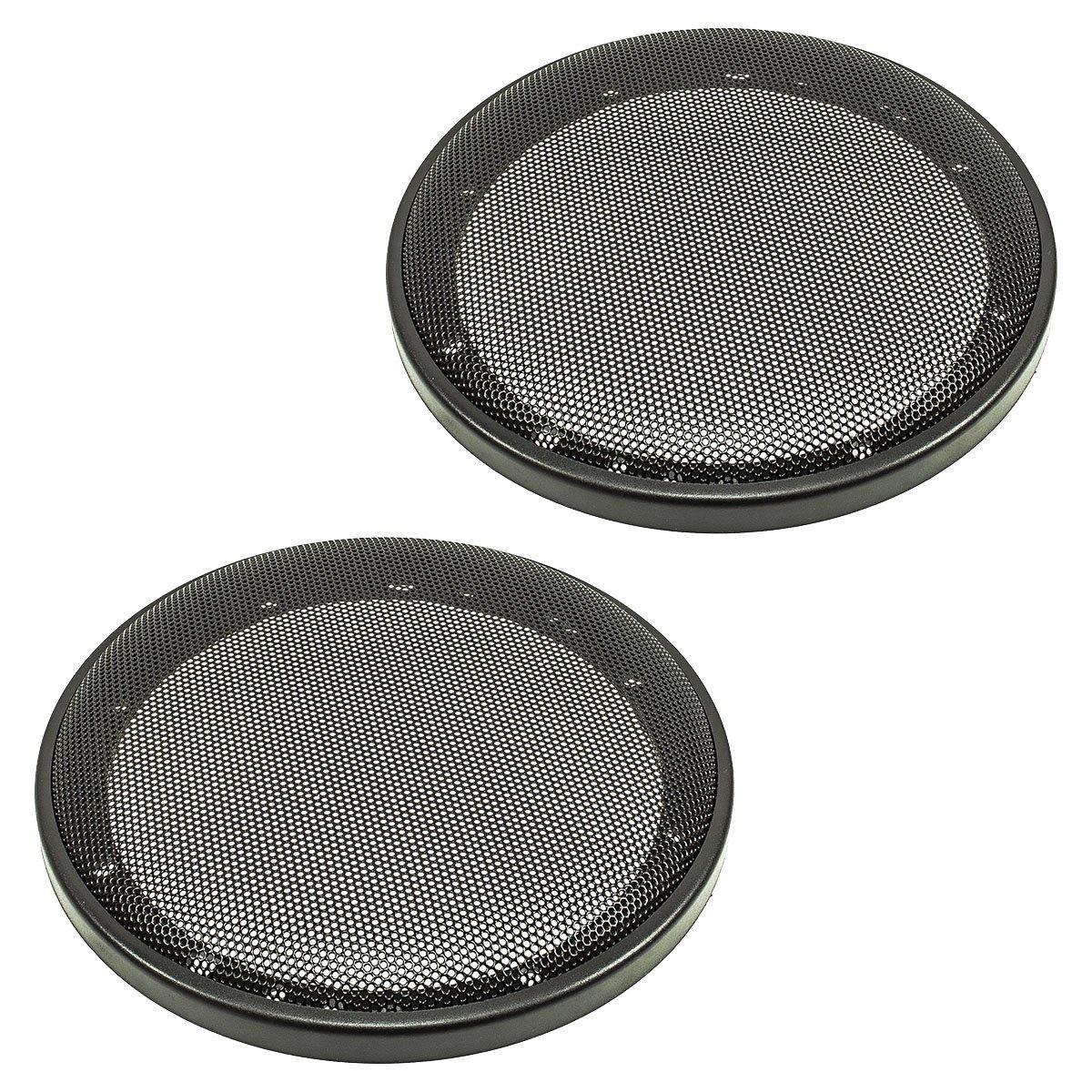 Altoparlante a griglia Grill 165 mm Nero, 2 teilig anello in plastica metallo griglia, set tomzz Audio ® 2800-002
