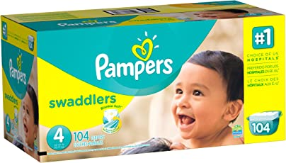 Pampers Swaddlers, Unisex, Talla 4, 104 Pañales