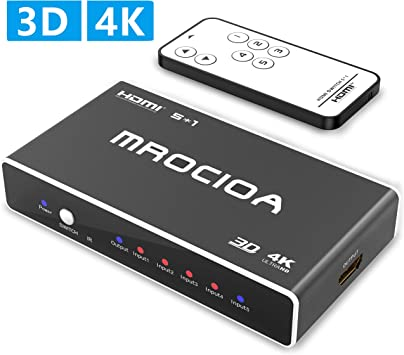 MROCIOA Hdmi Switch,5 puertos Hdmi Switcher | Hdmi Splitter 4K ...