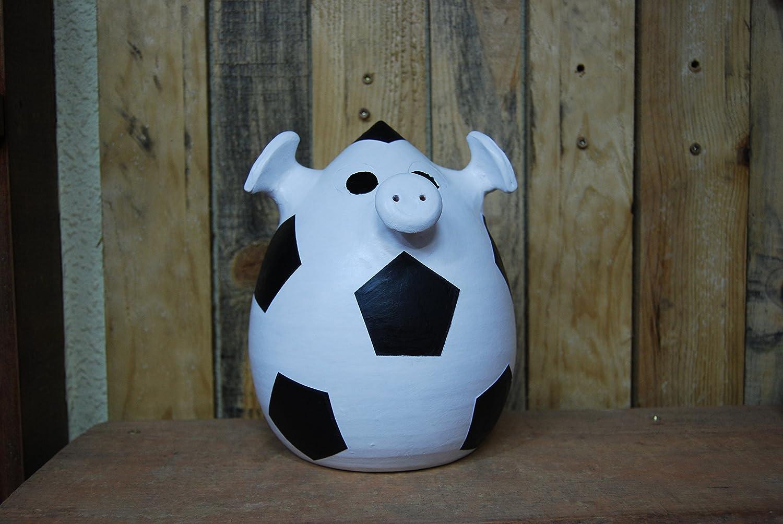 Hucha de cerdito con disfraz de balón de 25x 18 cm: Amazon.es ...