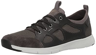 Mens U Snapish B Low-Top Sneakers, Schwarz (Anthracite/Blackc9211) Geox