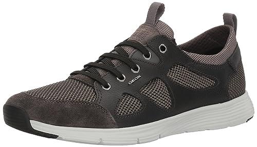 Geox U SNAPISH B, Men's Low-Top Sneakers, Black (Anthracite/blackc9211