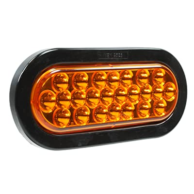 "Vehicle Safety Manufacturing 64544A Amber 6"" Oval 24-Diode LED Kit (STT, Amber Lens): Automotive"