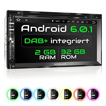 XOMAX XM-2DDA6902 Android 6.0.1 radio de coche / naviceiver con GPS +