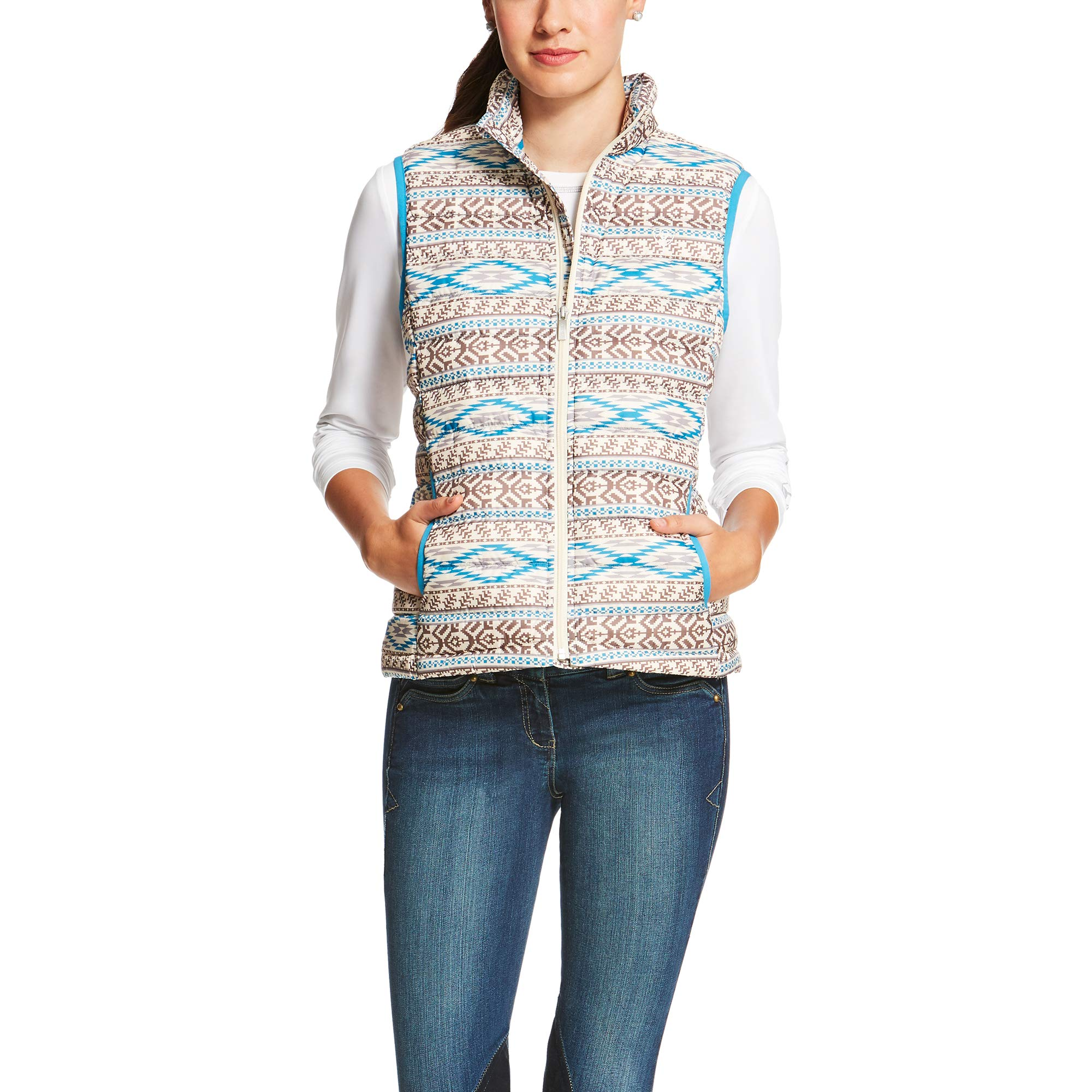 ARIAT Women's Ideal Down Vest Aztec Size Medium by ARIAT