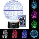 3D Illusion Star Wars Night Light Three Pattern and 7 Color Change Decor Lamp - Perfect Gifts for Kids and Star Wars Fans
