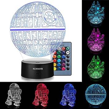 Amazon Com New Hiya 3d Illusion Star Wars Night Light Three
