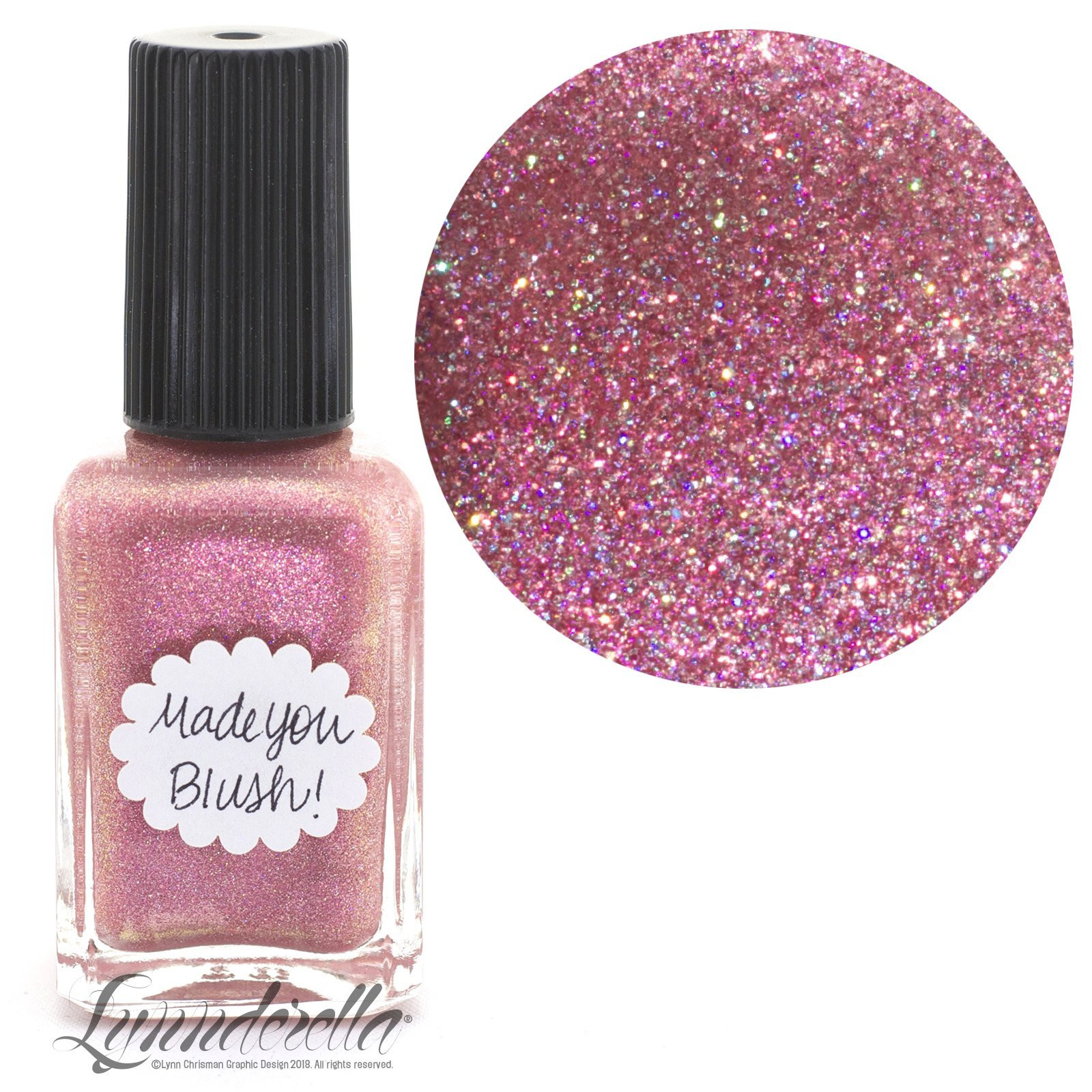 Lynnderella Limited Edition—Coral Peach Shimmerella Nail Polish—Made You Blush!