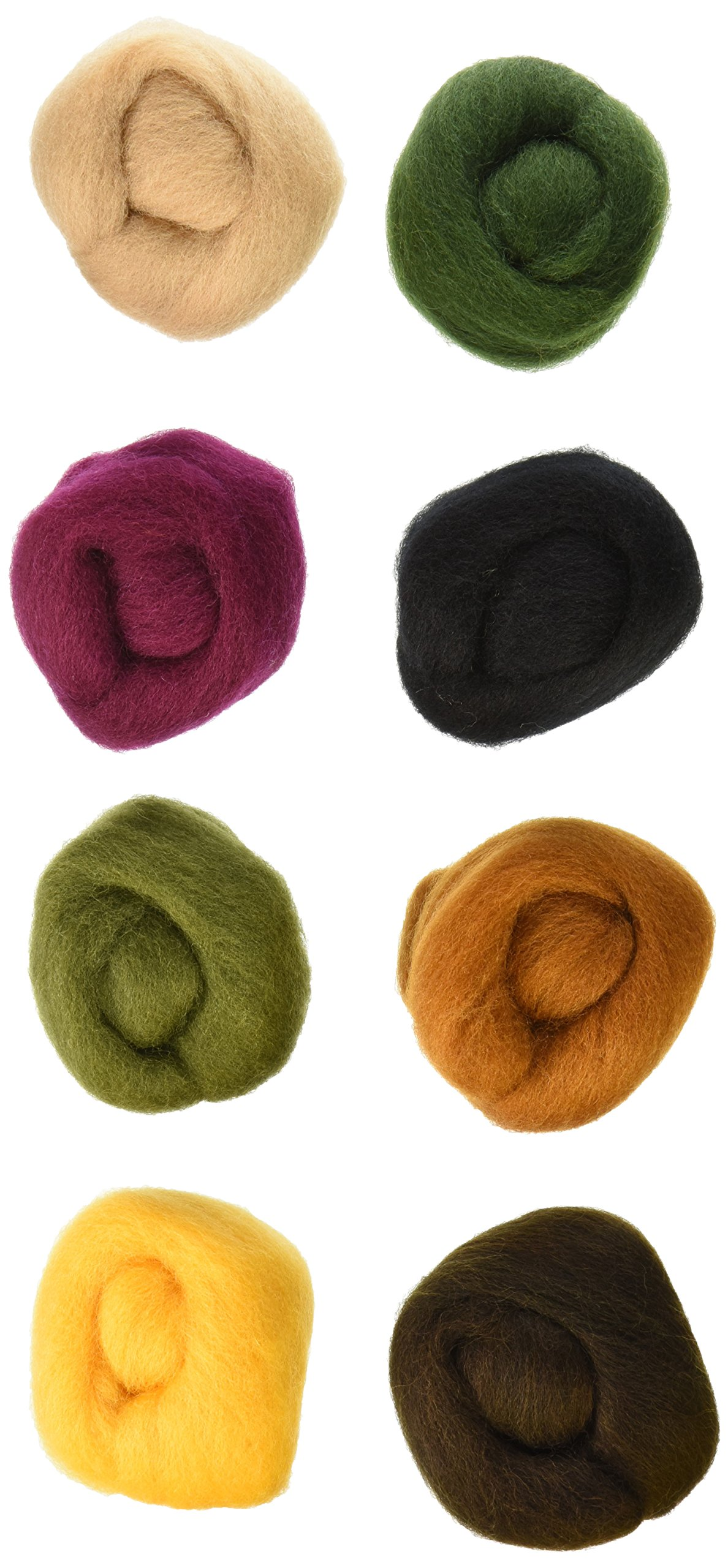 Wistyria Editions WR-907R Wool Roving, Falling Leaves, 8-Pack by Wistyria Editions