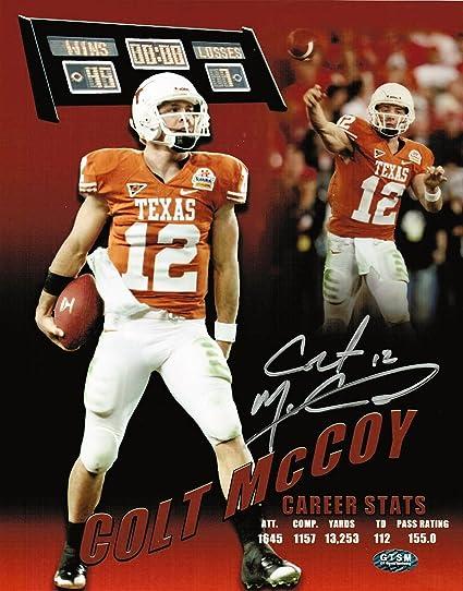 72ed9dc01d4 Image Unavailable. Image not available for. Color: Colt McCoy Autographed  Texas Longhorns ...