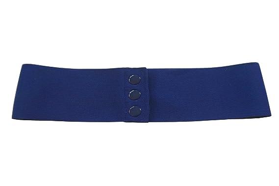 9fb5960f277c agrafa Bleu marin Ceinture élastique corset extensible à boutons-pression  (XS)