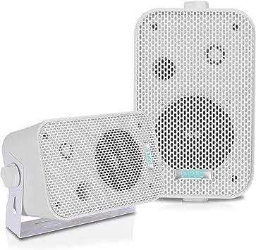 Waterproof Outdoor Indoor Speakers Pool Home Patio Mount Audio Stereo Black Pyle