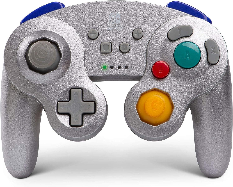 Mando inalámbrico para Nintendo Switch GameCube. Estilo GameCube Plateado