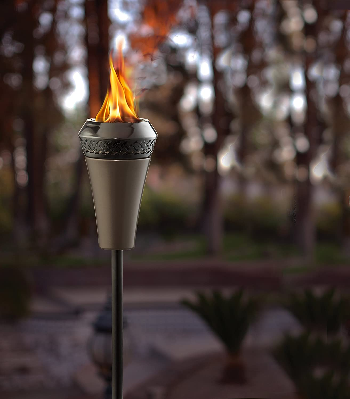 Amazon.com : TIKI Brand 66-inch Island King Large Flame Torch Gunmetal  Finish : Landscape Torch Lights : Garden & Outdoor