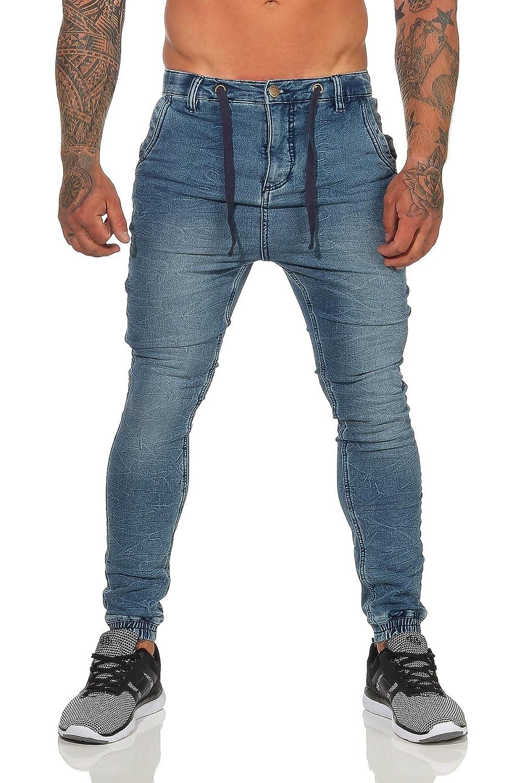 Sublevel, Jeans da Uomo Effetto Jeans, Slim Fit, Pantaloni