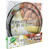 Ard'time TG-2CERC Lot de 2 Cercles à Tarte