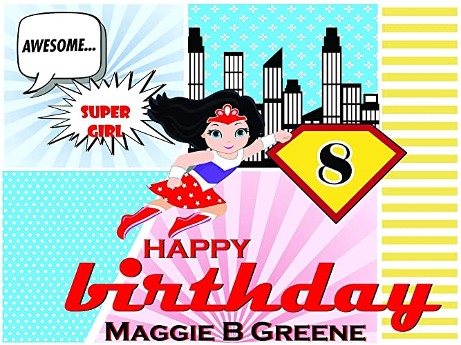 Custom Home Decor Comic Supergirl Birthday Poster