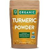 Organic Turmeric Root Powder w/ Curcumin   Lab Tested for Purity   100% Raw from India   8oz/226g Resealable Kraft Bag   by F