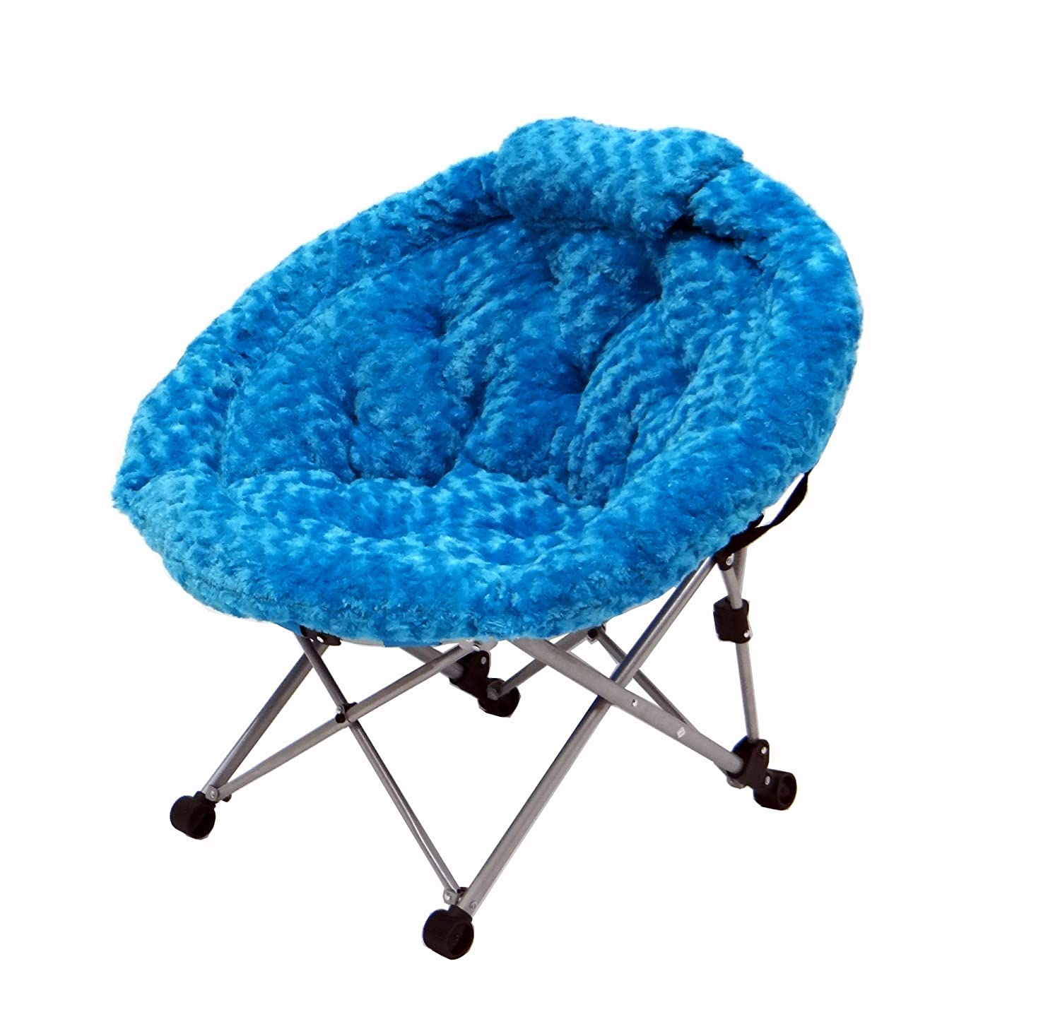 Amazon Junior Moon Chair in Deluxe Blue Fur Kitchen & Dining