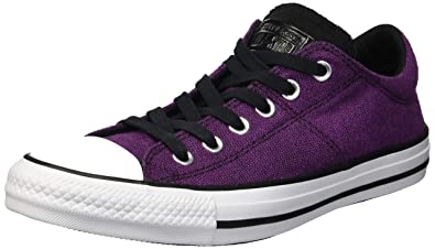 b96c7f7fa57e Converse Women s Chuck Taylor All Star Madison Low Top Sneaker icon  Violet Black White