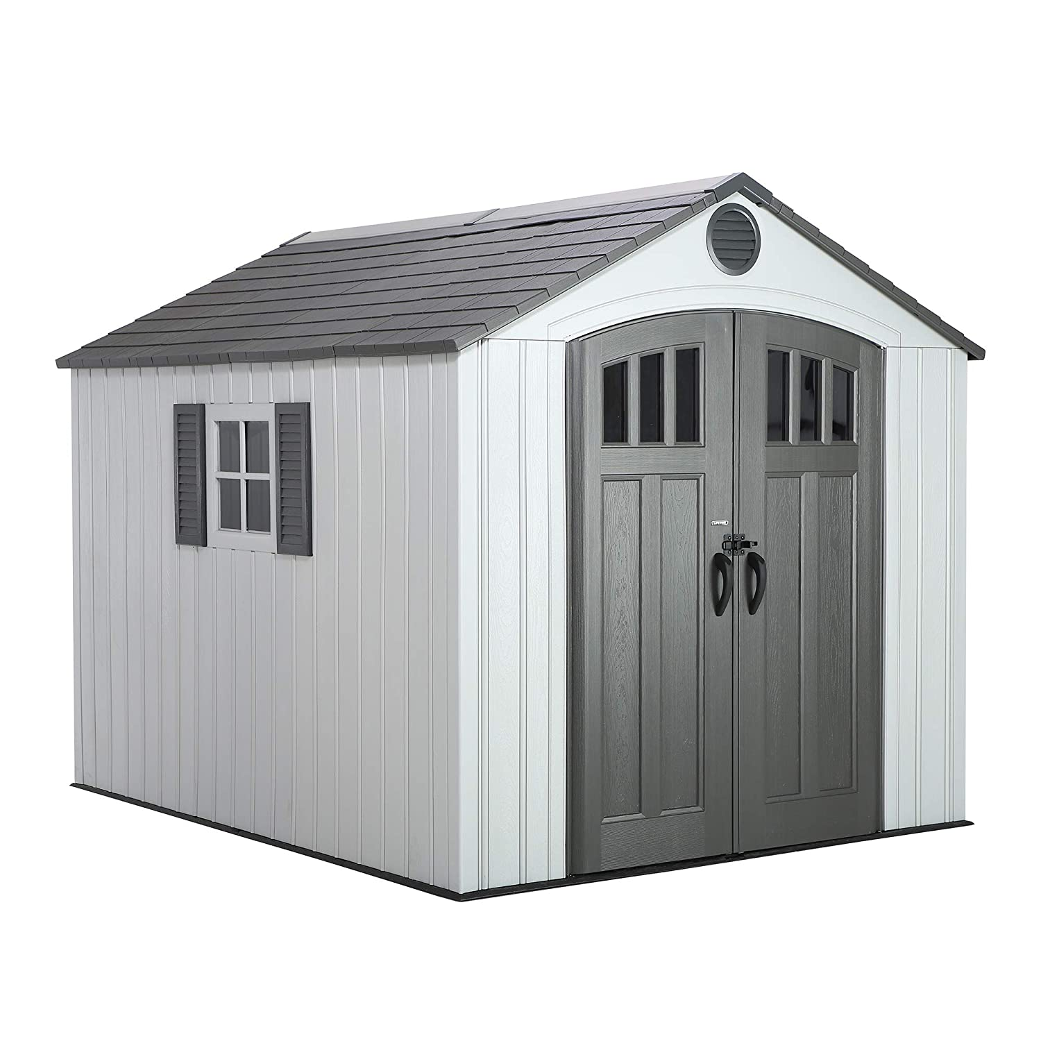 Lifetime 60202 8 x 10 Ft. Outdoor Storage Shed, Gray Lifetime Products