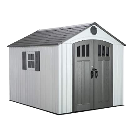 Lifetime 60202 8 x 10 Ft  Outdoor Storage Shed, Gray