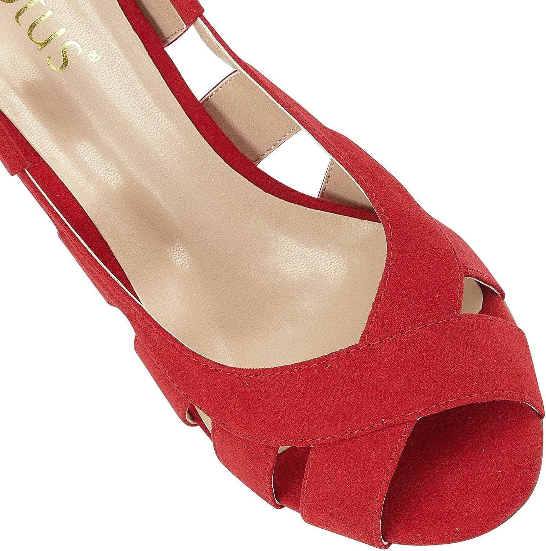 Zapatos de tac/ón con Punta Abierta para Mujer Lotus Dakota